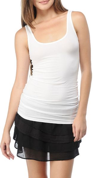 Splendid Stretch Sheer Layers Tank - Lyst