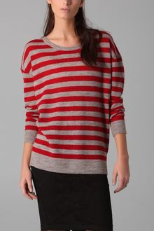 DKNY Pure Dkny Striped Scoop Neck Pullover - Lyst