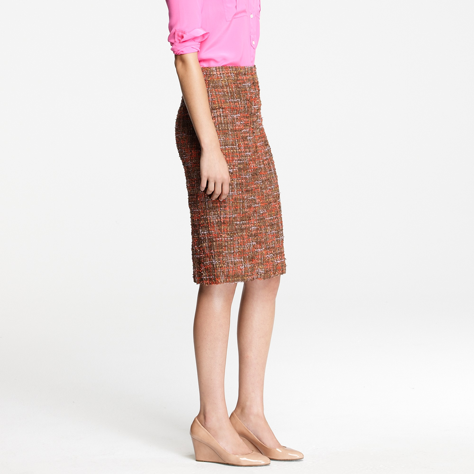 00e71e79f J.Crew No. 2 Pencil Skirt in Harvest Tweed in Brown - Lyst