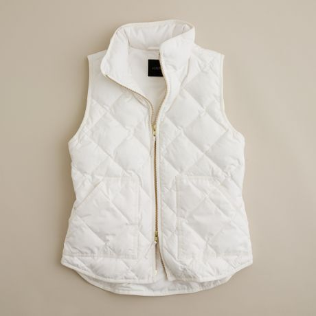 J Crew Excursion Quilted Vest In White Ivory Lyst