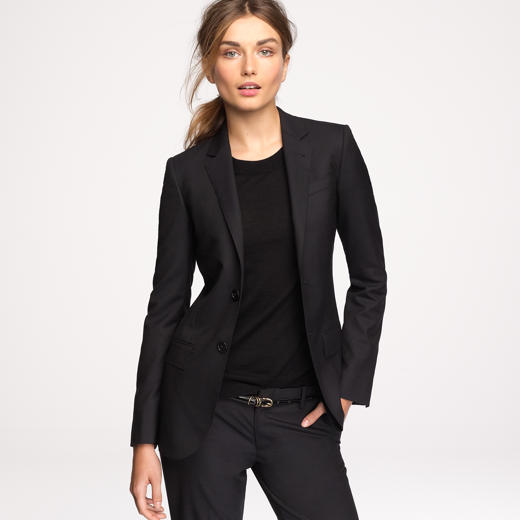 Find black wool blazer women at ShopStyle. Shop the latest collection of black wool blazer women from the most popular stores - all in one place.