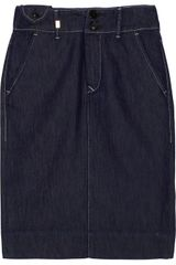 M Missoni Denim Pencil Skirt - Lyst