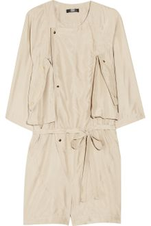 Markus Lupfer Washed-silk Playsuit - Lyst