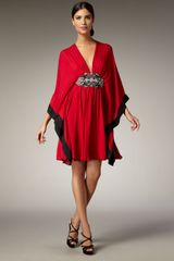 Naeem Khan Jewel-waist Caftan Dress - Lyst