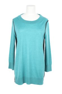 Fendi Teal Merino-wool Knitted Sweater - Lyst
