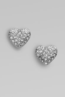 Marc By Marc Jacobs Pavé Heart Stud Earrings - Lyst