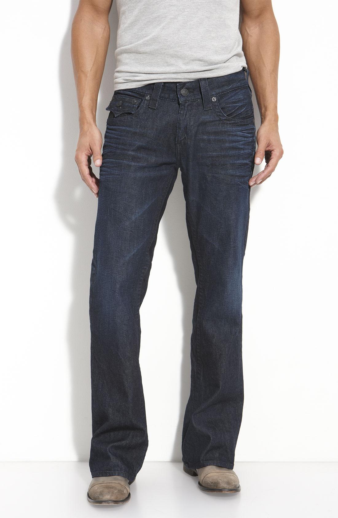 true religion billy black cornelli straight leg jeans in. Black Bedroom Furniture Sets. Home Design Ideas