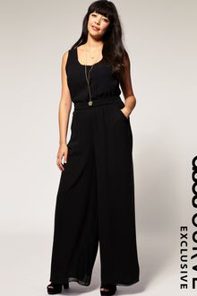 ASOS Collection Asos Curve Exclusive Pleat Front Jumpsuit - Lyst