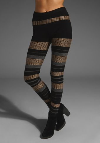 Edun Jacquard Sweater Leggings - Lyst