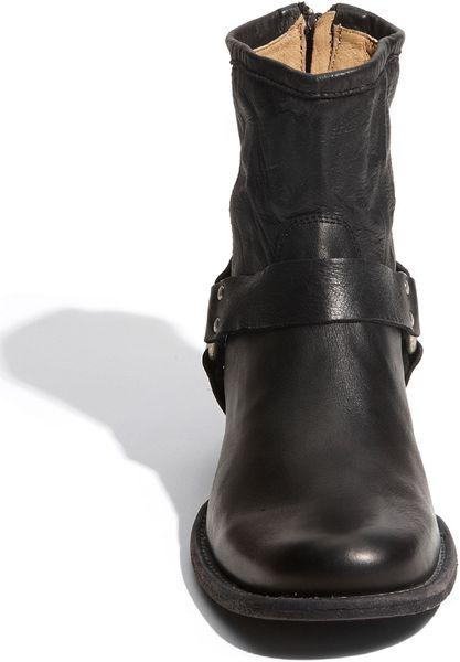 Frye Phillip Harness Boot Men In Black For Men Lyst