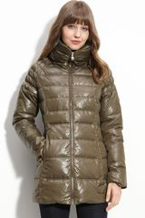 Guess Quilted Coat - Lyst