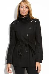 Kenneth Cole Belted Military Coat - Lyst