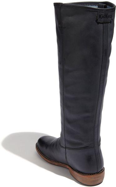 Kickers Road Boot Wide Calf In Gray Dark Grey Lyst
