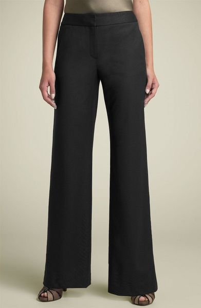 Lafayette 148 New York Delancey Stretch Wool Pants in Black - Lyst