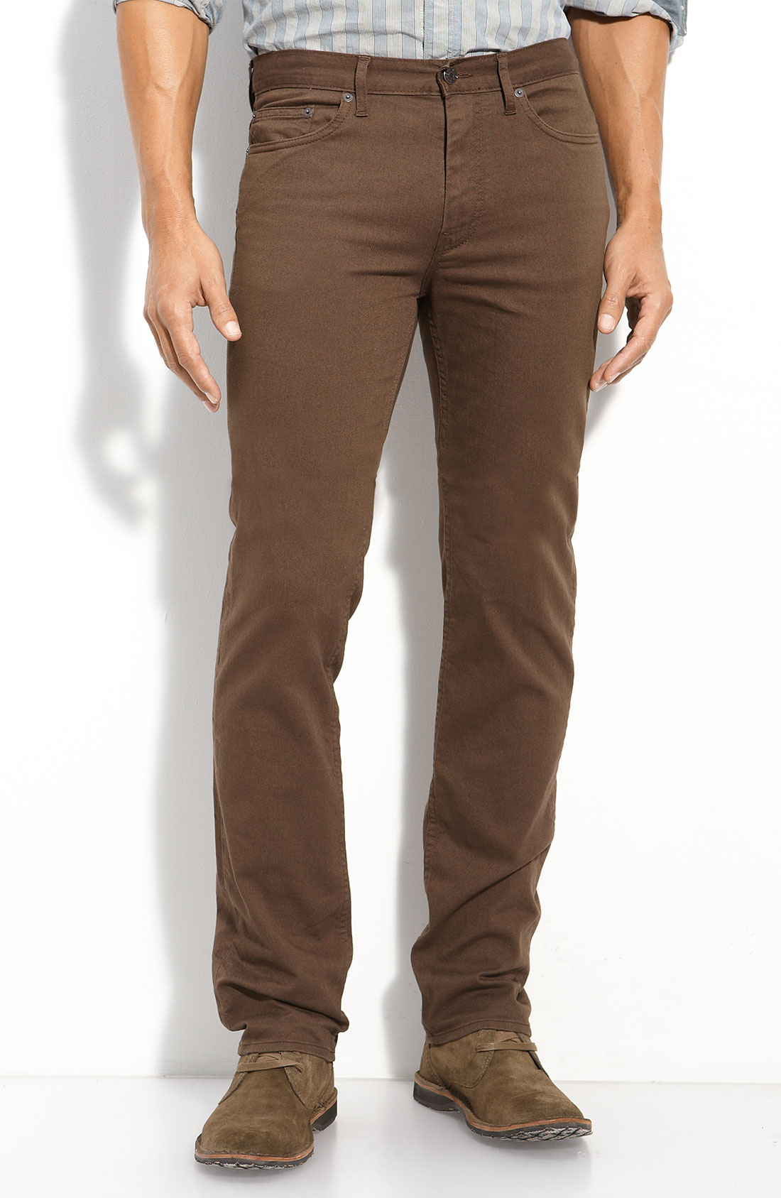 Marc by marc jacobs Slim Fit Twill Pants in Brown for Men | Lyst