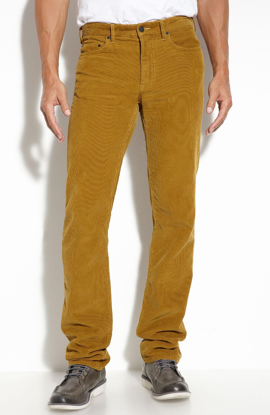 gold corduroy pants - Pi Pants