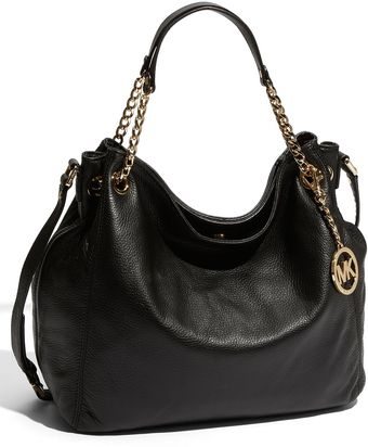 Michael by Michael Kors Jet Set - Large Gathered Leather Shoulder Tote - Lyst