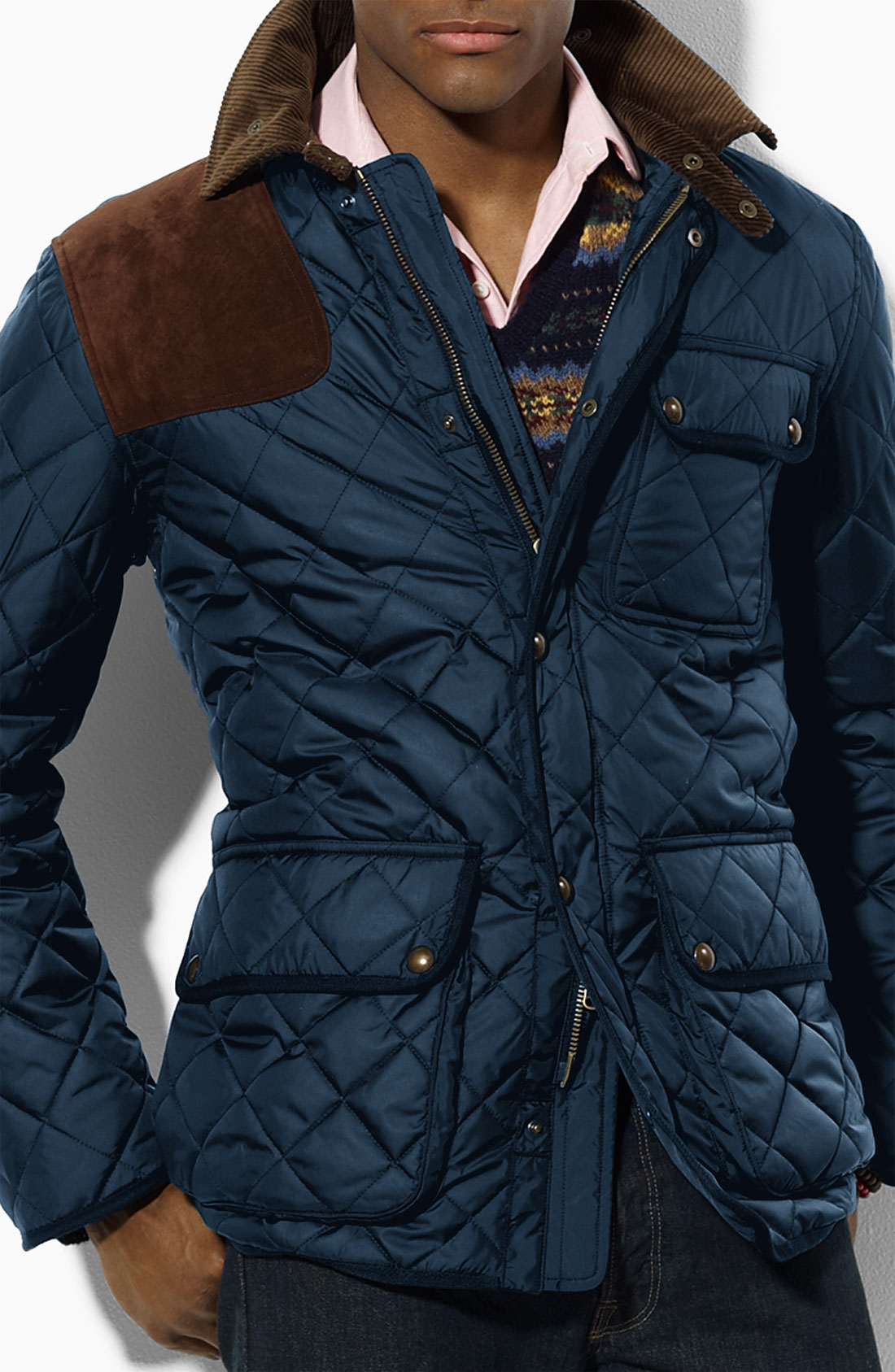 Polo ralph lauren Kempton Quilted Jacket in Blue for Men | Lyst : mens navy quilted coat - Adamdwight.com