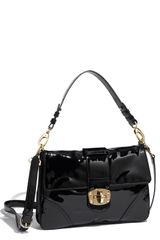 Sondra Roberts Patent Leather Shoulder Bag - Lyst