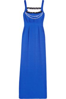 Alice By Temperley Long Masai Embellished Crepe Maxi Dress - Lyst