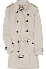 Burberry Twill Trench Coat - Lyst