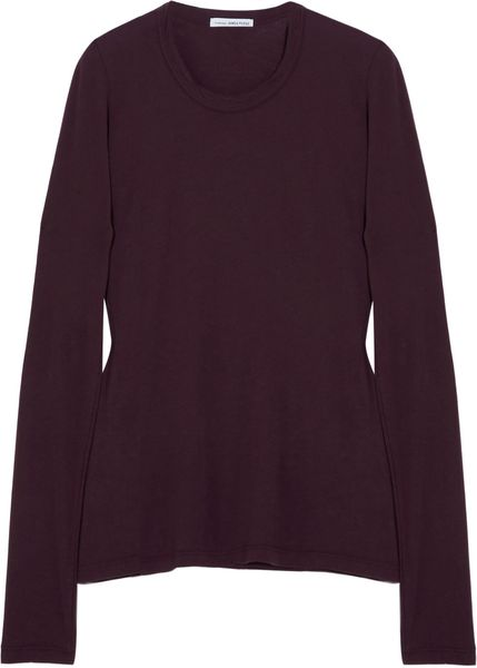 James Perse Cottonjersey Top in Purple (burgundy) - Lyst