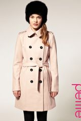ASOS Collection Asos Petite Double Breasted Coat with Belt - Lyst