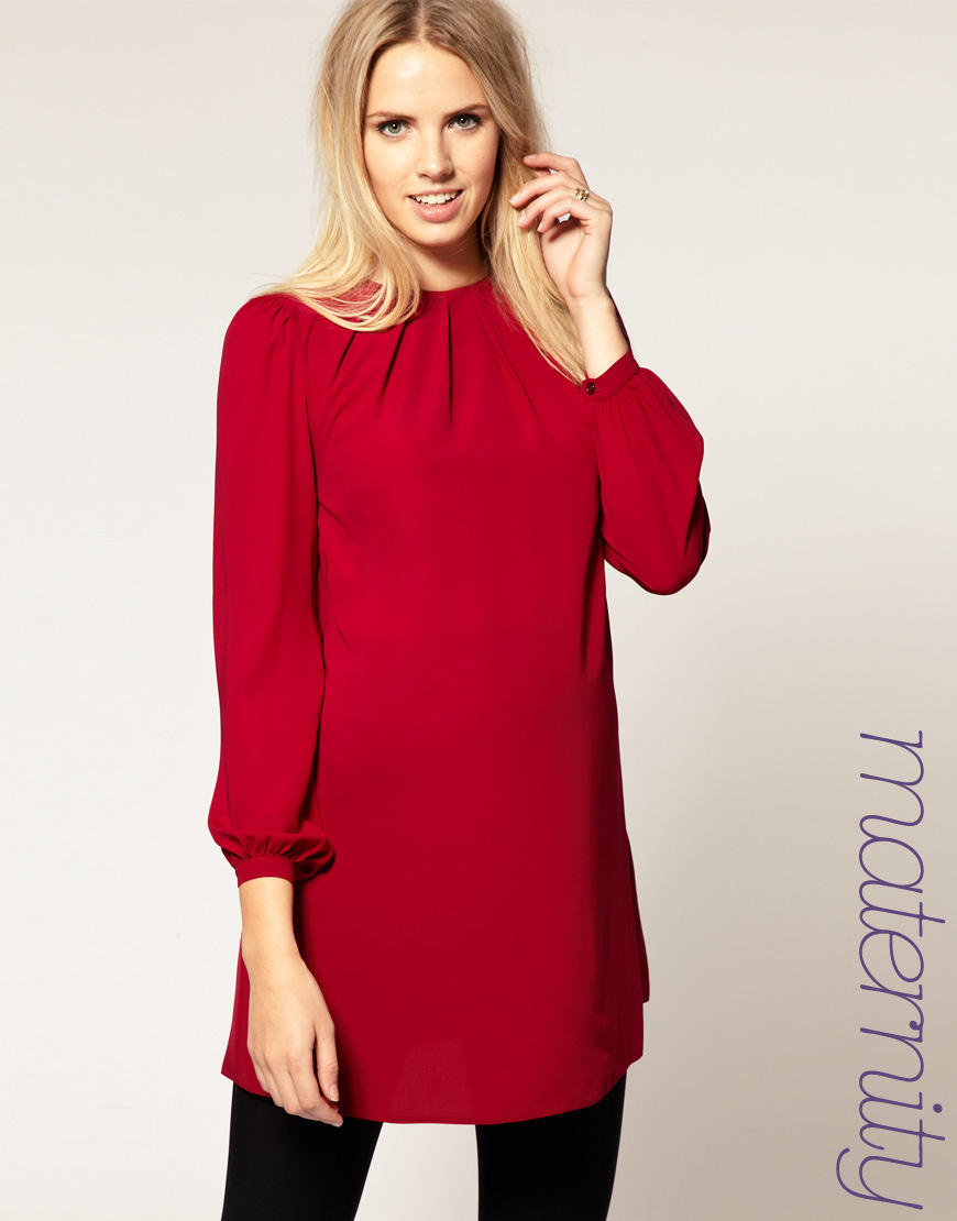Asos collection asos maternity shift dress with bell sleeves in gallery ombrellifo Images