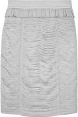 Burberry Ruched Silk Pencil Skirt - Lyst