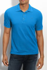 Lacoste New Retro Fit Vintage Washed Piqué Polo - Lyst