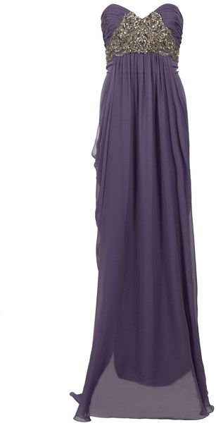 Marchesa Embroidered Bodice Gown - Lyst