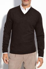 Nordstrom Merino Wool V-neck Sweater - Lyst