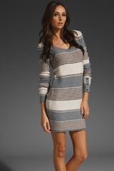 Splendid Patchwork Stripe Dress - Lyst
