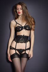 Agent Provocateur Raphaella Suspender in Black (gold) - Lyst