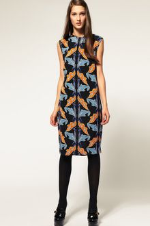 ASOS Collection Asos Printed Shift Dress - Lyst