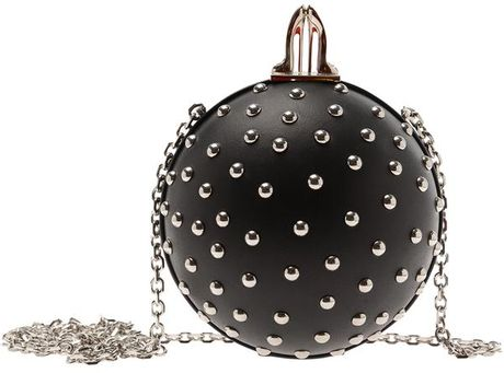 Christian Louboutin Eden Studded Ball Clutch in Black - Lyst