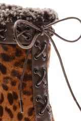 Christian Louboutin Toufoure Calf Hair Chad Boots in Animal (leopard) - Lyst