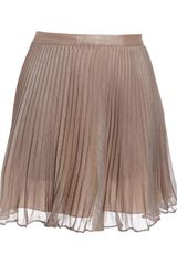 Club Monaco Gwen Pleated Metallic Mini-skirt - Lyst