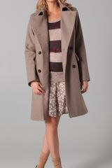 Club Monaco Audrey Coat in Gray (oatmeal) - Lyst