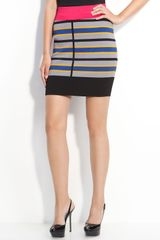 Cut25 Techno Stripe Knit Skirt - Lyst
