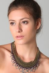 Dannijo Marguerite Necklace in Purple - Lyst