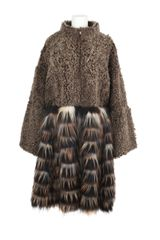 Fendi Shearling and Fox Fur Coat - Lyst