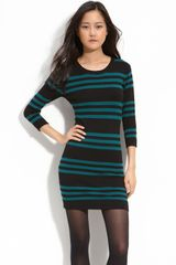 French Connection Stripe Sweater Dress - Lyst