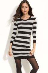 French Connection Contrast Stripe Sweater Dress - Lyst