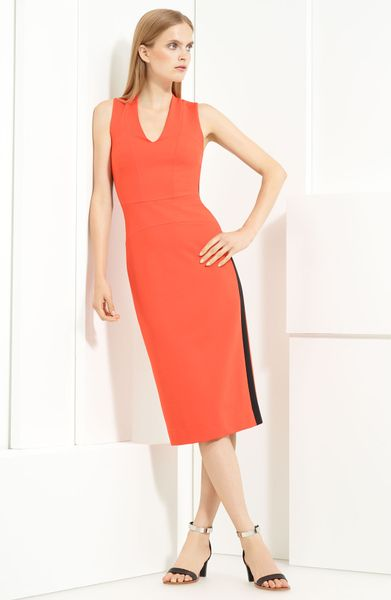 Lida Baday VNeck Dress in Red (flame) - Lyst