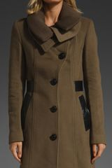 Mackage Nola Rib Coat in Green (taupe) - Lyst