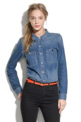 Madewell Shrunken Denim Boyshirt