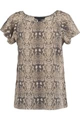 Marc By Marc Jacobs Snake-print Silk Top - Lyst