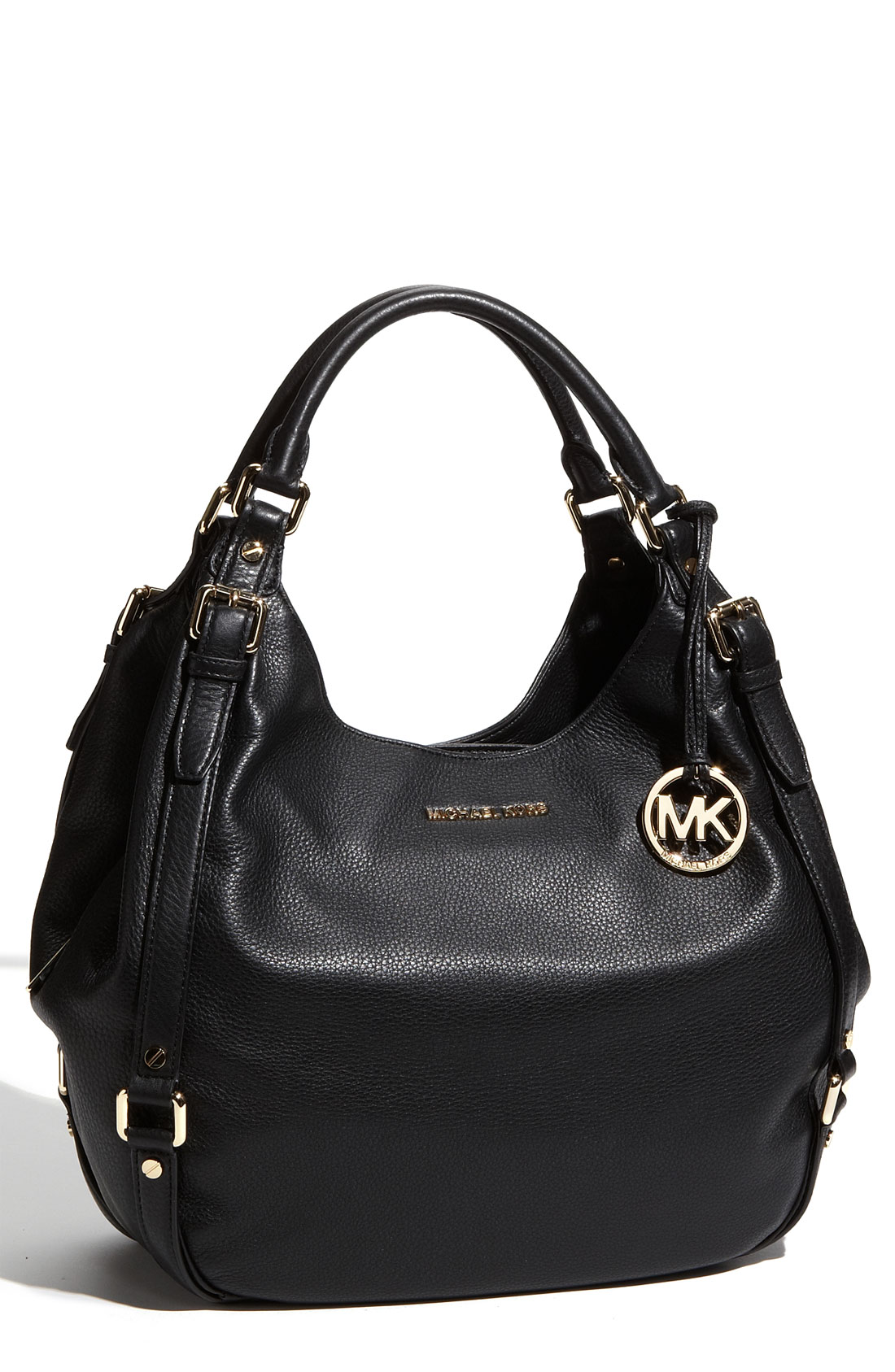 michael michael kors bedford large shoulder tote in black lyst. Black Bedroom Furniture Sets. Home Design Ideas