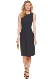 Michael Kors Drape-front Sheath Dress - Lyst